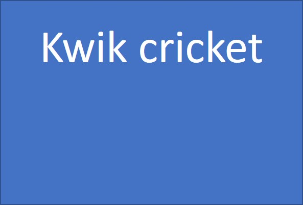 Kwik cricket for 8-11 year-olds